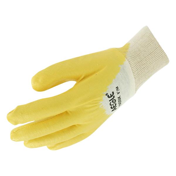 黄色丁腈半浸手套