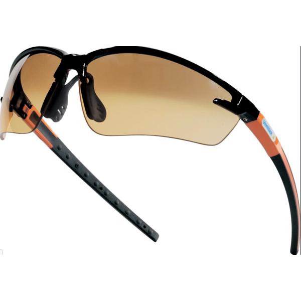 橙色渐变色两片式防护眼镜